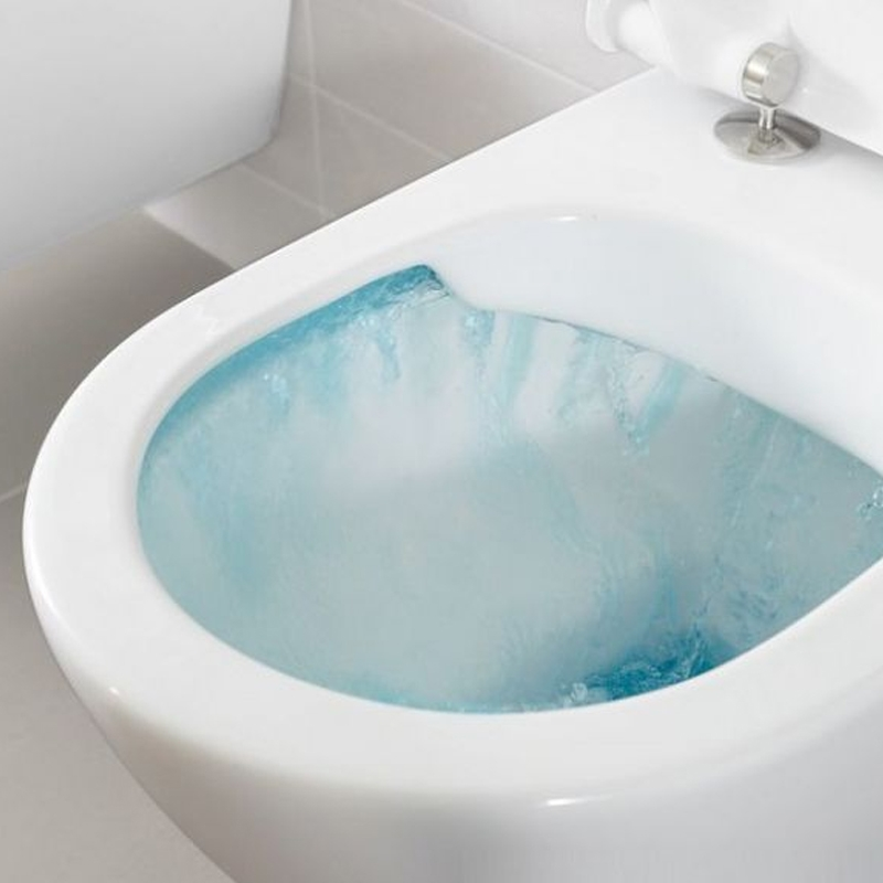 Set vas WC suspendat, direct flush, cu capac slim, soft close, alb alpin, Subway 2.0