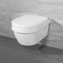Set vas WC suspendat Villeroy & Boch, Architectura, COMPACT, Direct Flush, cu capac Soft Close, Quick release, alb
