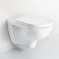 Set vas WC suspendat Villeroy & Boch, O.Novo, COMPACT, direct flush, cu capac soft close, alb