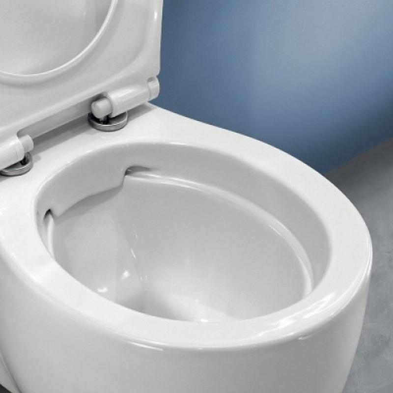 Vas WC stativ Hatria, Le Fiabe, monobloc, rectificat, pure rim, alb