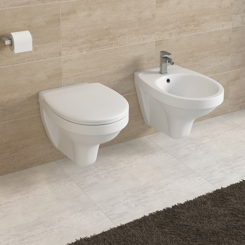 Capac WC Cersanit, Terra, duroplast, alb