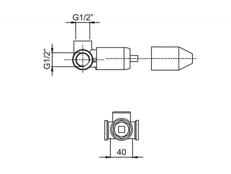Desen tehnic corp incastrat F2535CR