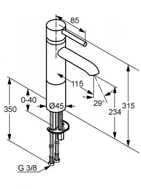 Desen tehnic baterie lavoar inalta, BOZZ