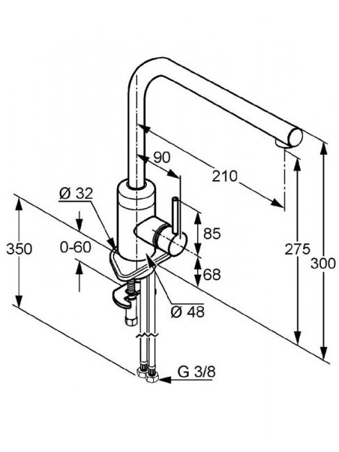 Desen tehnic baterie bucatarie, L-LINE