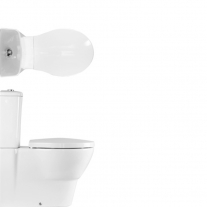 Rezervor vas WC Hatria, Nido, alimentare laterala, alb