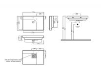 Desen tehnic lavoar GRANDANGOLO