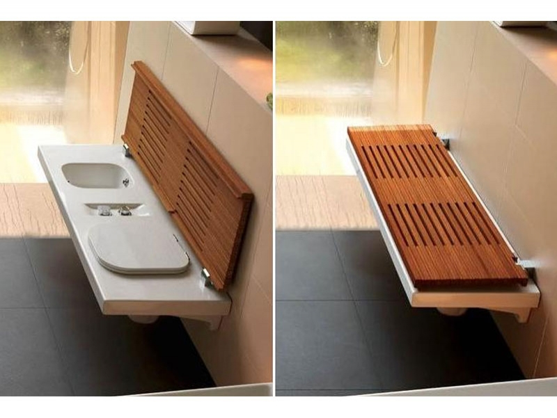 Banca multifunctionala cu vas WC si bideu + capac