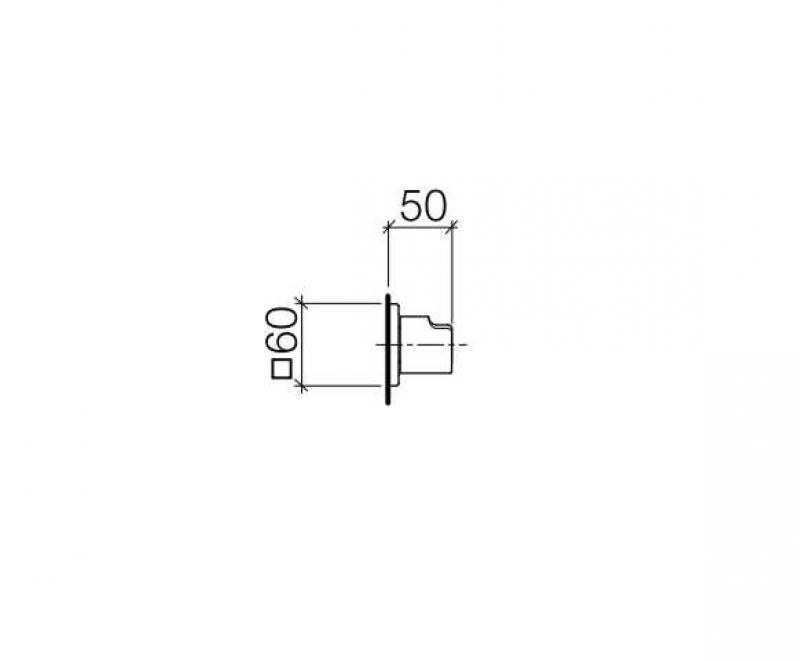 Desen tehnic robinet de perete CULT