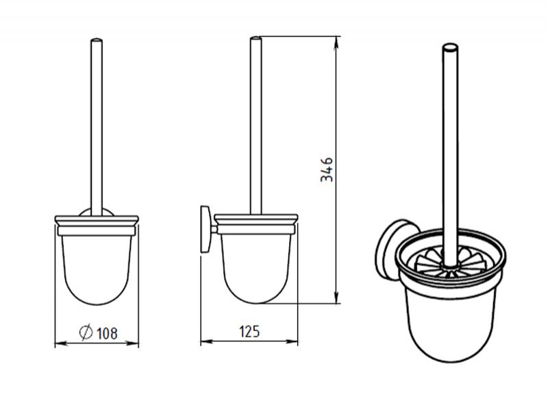 Portperie toaleta Ferro, Metalia 1, crom