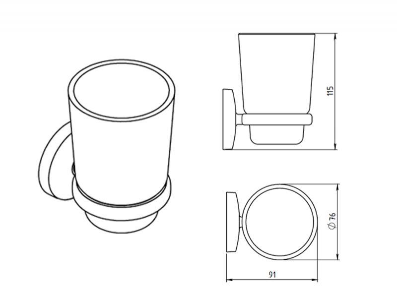 Desen Tehnic, Portpahar sticla