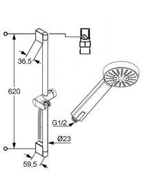 Desen tehnic set dus 60 cm, A-QA