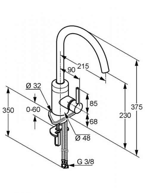 Desen tehnic baterie bucatarie, BOZZ