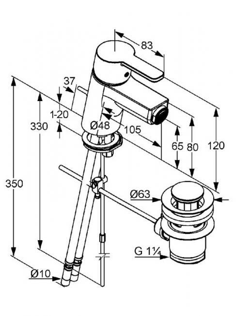 Desen tehnic baterie bideu cu stut, LOGO NEO