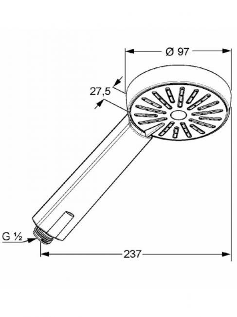 Desen tehnic cap dus, A-QA