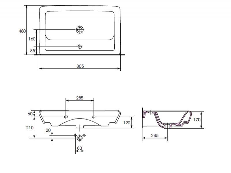 Desen tehnic lavoar