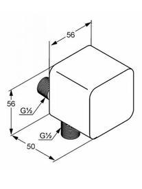 Desen tehnic cot racord, A-QA
