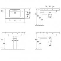Schita-Lavoar-suspendat-Villeroy-Boch-Architectura