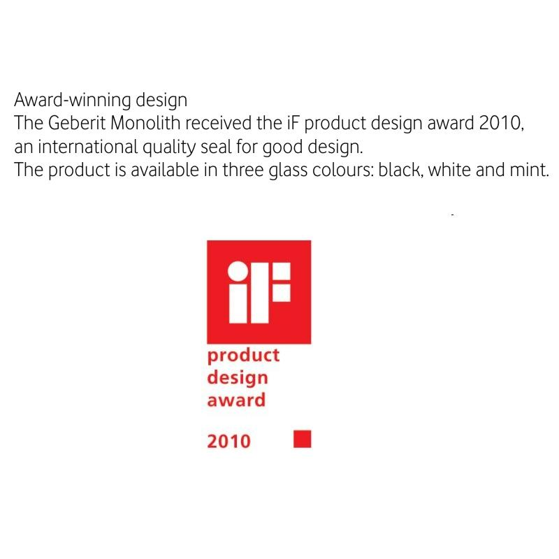 IF Product Design Award 20120 - GEBERIT MONOLITH