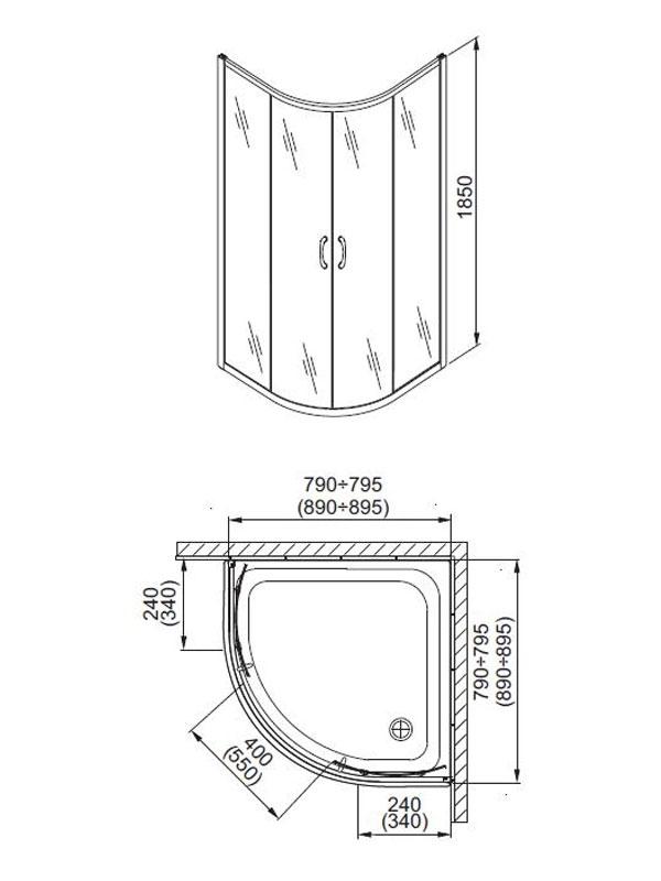 Desen tehnic, cabina semirotunda, NIGRA