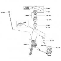 Baterie lavoar Kludi, Balance, cu ventil, crom