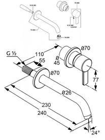 Desen tehnic amestecator de lavoar, Zenta