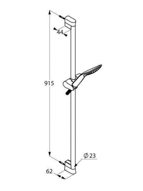 Desen tehnic set dus 90 cm, FIZZ