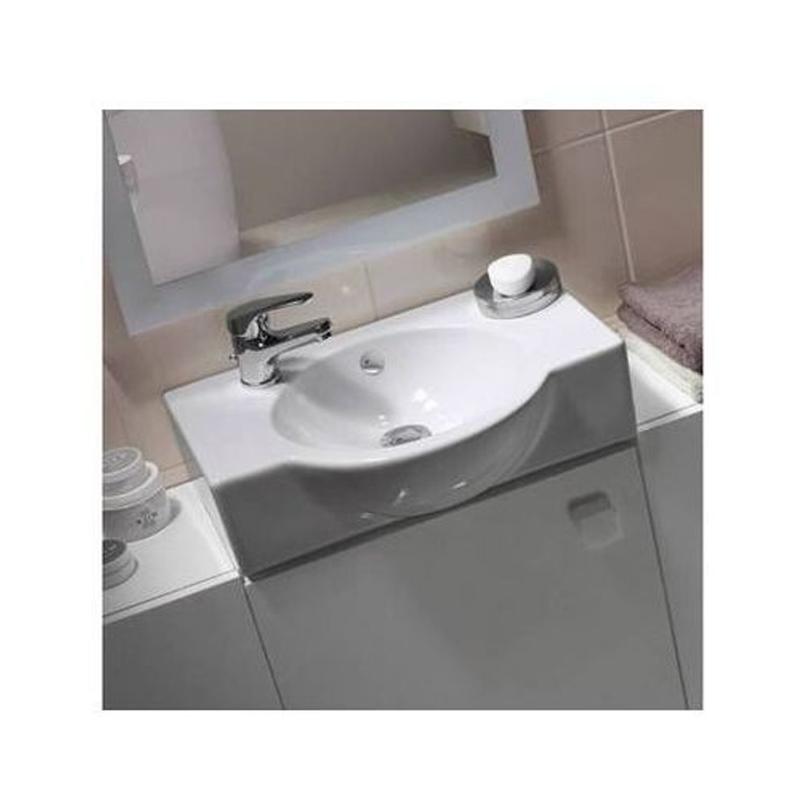 Lavoar simetric, alb, 50 cm, de stanga, Nano