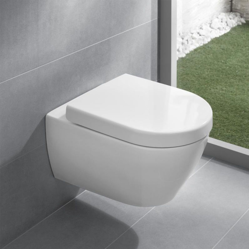Capac WC soft close, alb, pentru vas WC Subway 2.0