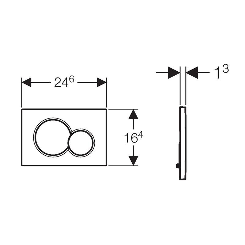 Clapeta cu actionare dubla, crom mat, Sigma 01