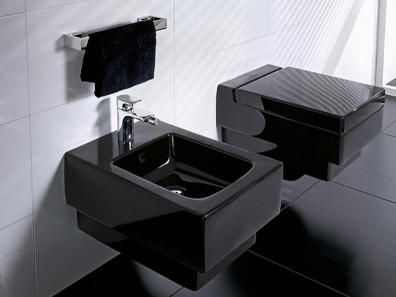 Vas WC si Bideu glossy black