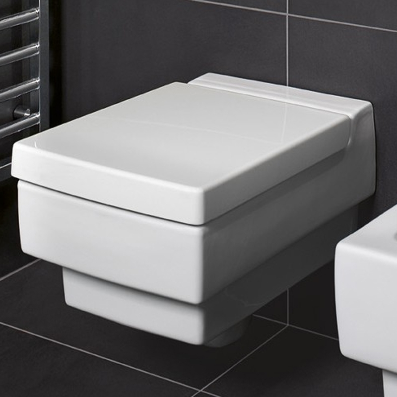 Vas WC dreptunghiular, suspendat, alb alpin, Memento