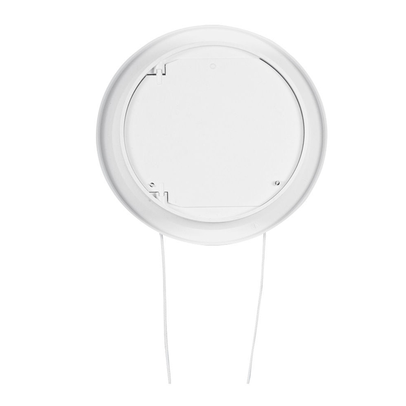 Rama de aerisire Haco, rotunda, cu inchizator, Ø 10.5 cm, alb