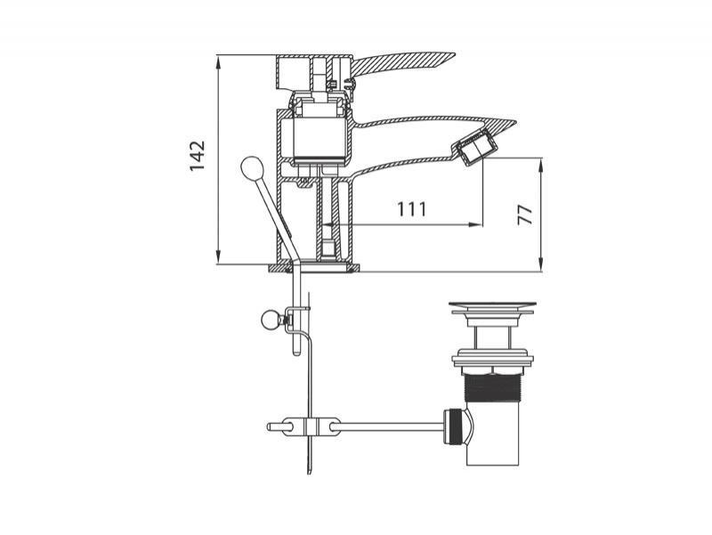 Desen tehnic, baterie lavoar, Modena