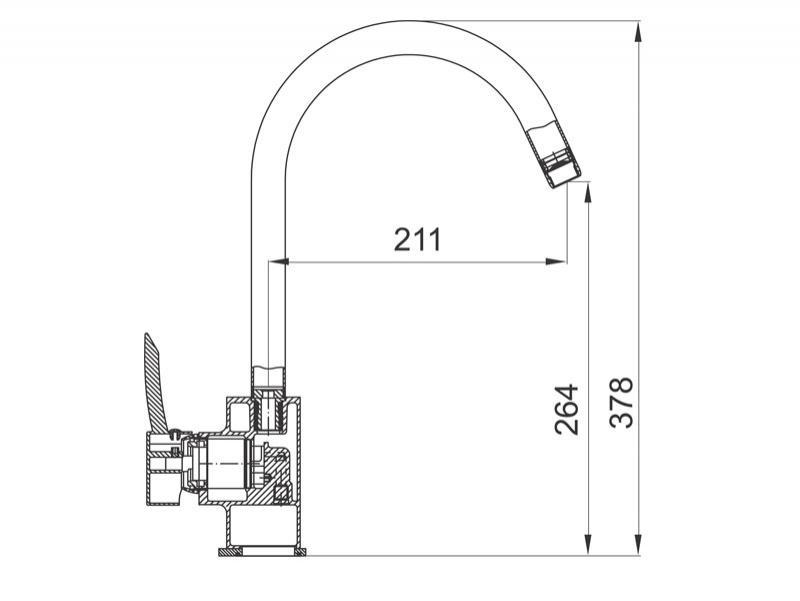Desen tehnic, baterie bucatarie, Modena