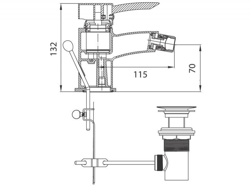 Desen tehnic, baterie bideu, Modena