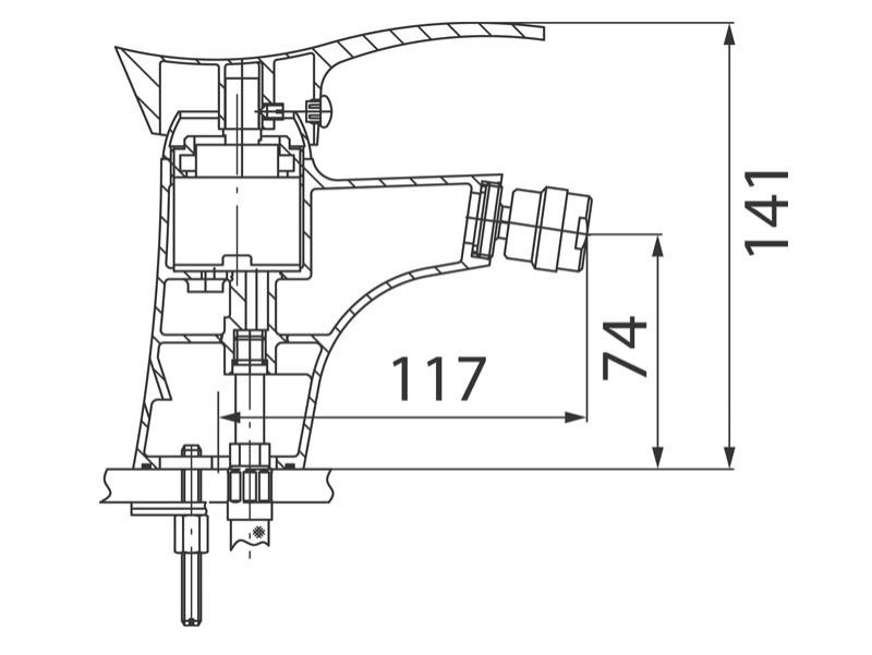 Desen tehnic, baterie bideu, Padwa