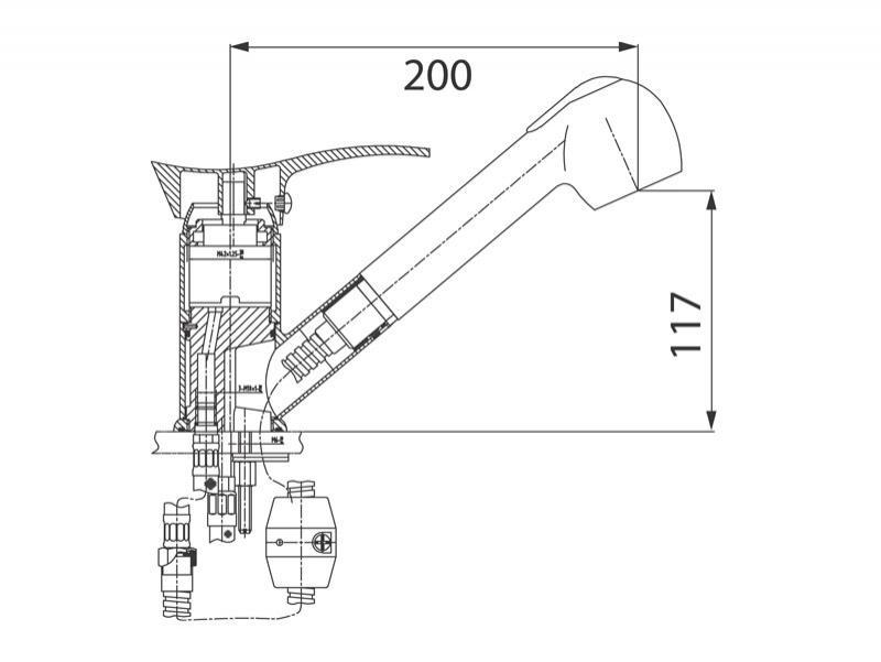 Desen tehnic, baterie bucatarie, Padwa