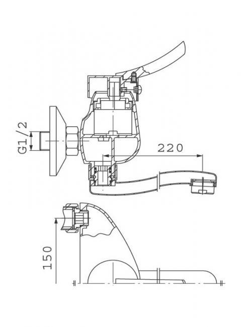 Desen tehnic, baterie bucatarie, Werona
