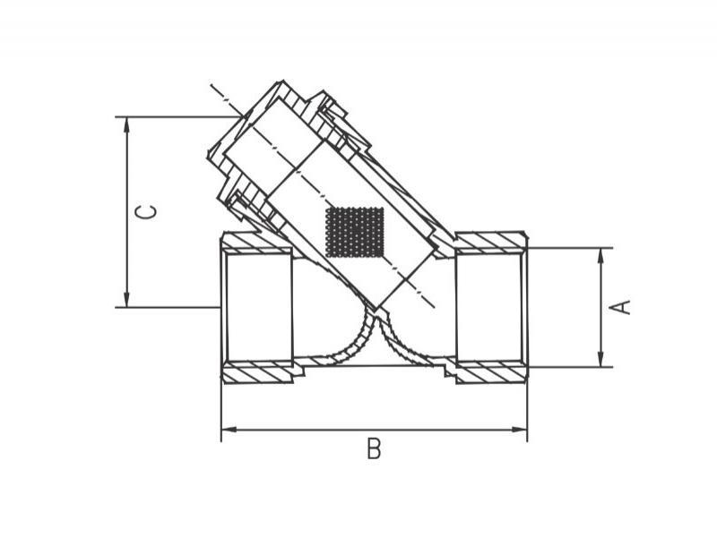 Desen tehnic, filtru reziduuri-incalzire, F04