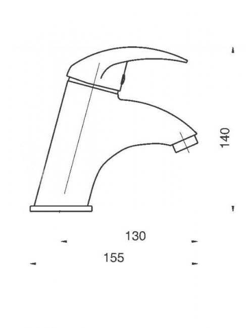 Desen tehnic, baterie lavoar,Titania-Lux