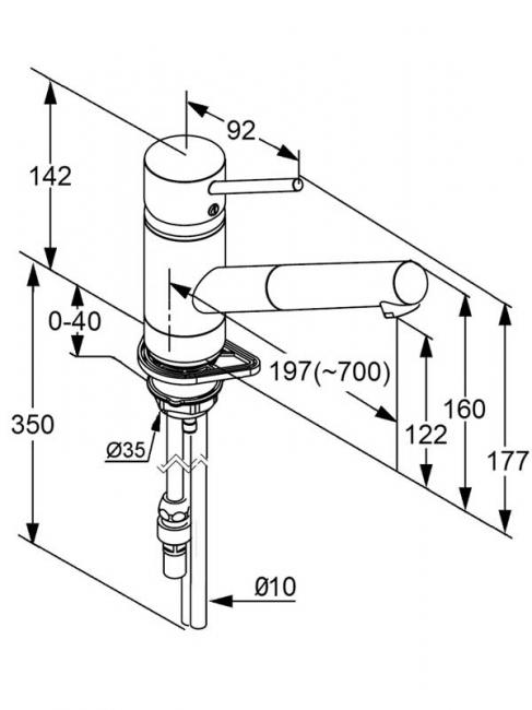 Desen tehnic baterie bucatarie, SCOPE