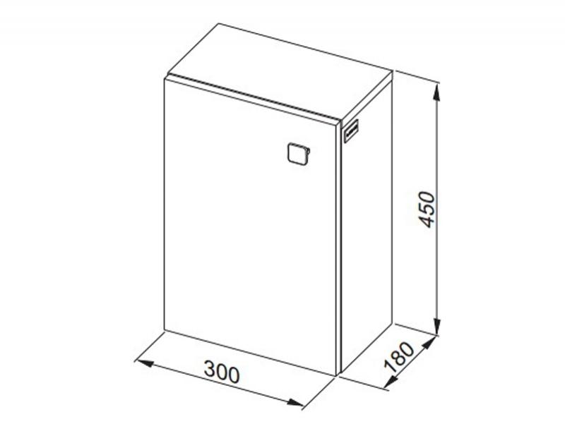 Desen tehnic, dulap suspendat, Flex, h.45 cm, alb