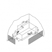 Cada dreptunghiulara Kolpasan, Elektra, 190 x 90 cm, acril