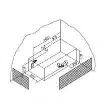 Cada dreptunghiulara Kolpasan, Elektra, 180 x 80 cm, acril