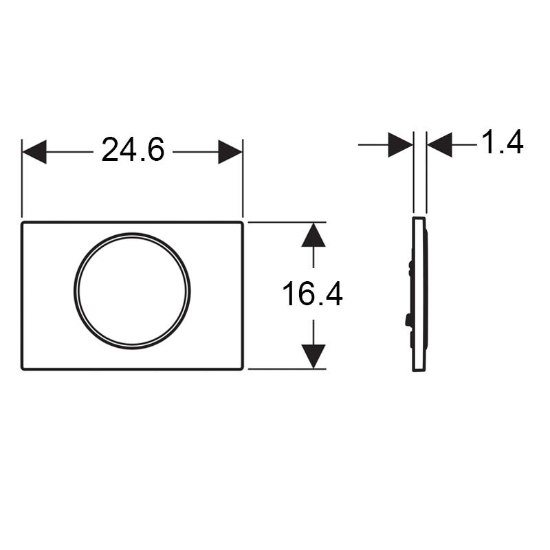 Clapeta cu actionare dubla Geberit, Sigma10, cromat mat