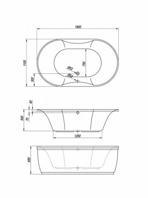 Desen tehnic cada Gloriana 190
