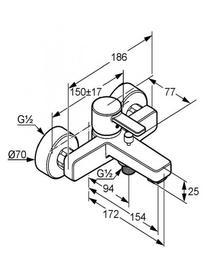 Desen tehnic baterie cada-dus, ZENTA