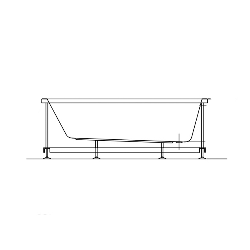 Cada dreptunghiulara Kolpasan, Tamia, 150 x 70 cm, acril