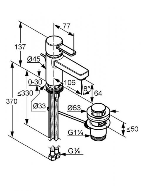 Desen tehnic baterie lavoar, ZENTA