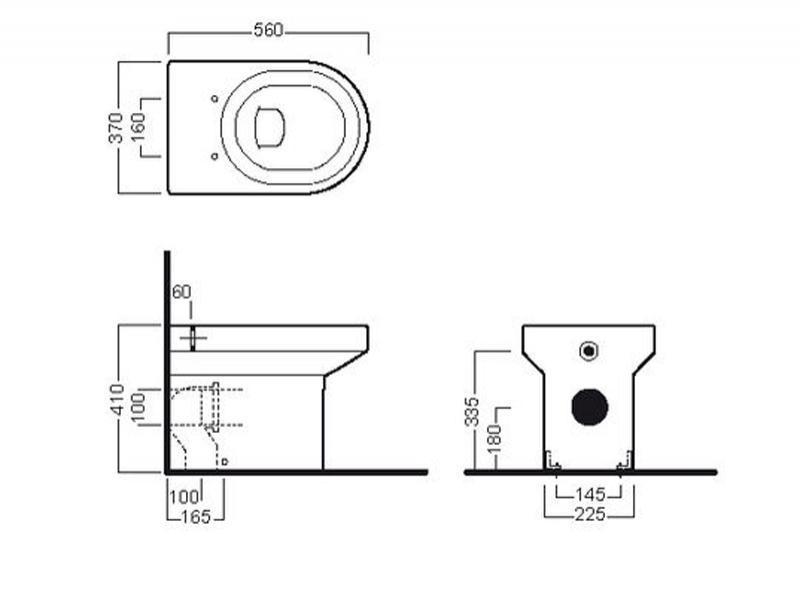 Desen tehnic vas WC stativ